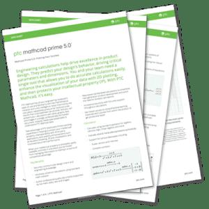 PTC Mathcad Prime 5.0 Datasheet | EAC Product Development Solutions