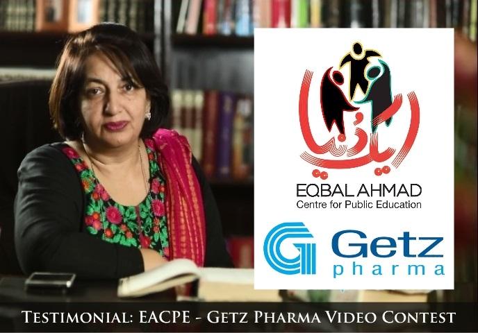Testimonial: EACPE – Getz Pharma Video Contest (Maria Rubab) | Eqbal