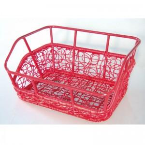 Kurv For Nest Rød med indfarvet alu top