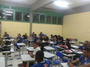 Alunos do 3° ano da Escola Estadual Nelson Mandela.