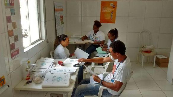 Agentes do CCZ Salvador Bahia Periperi 2016 projeto mobilização dengue fiocruz