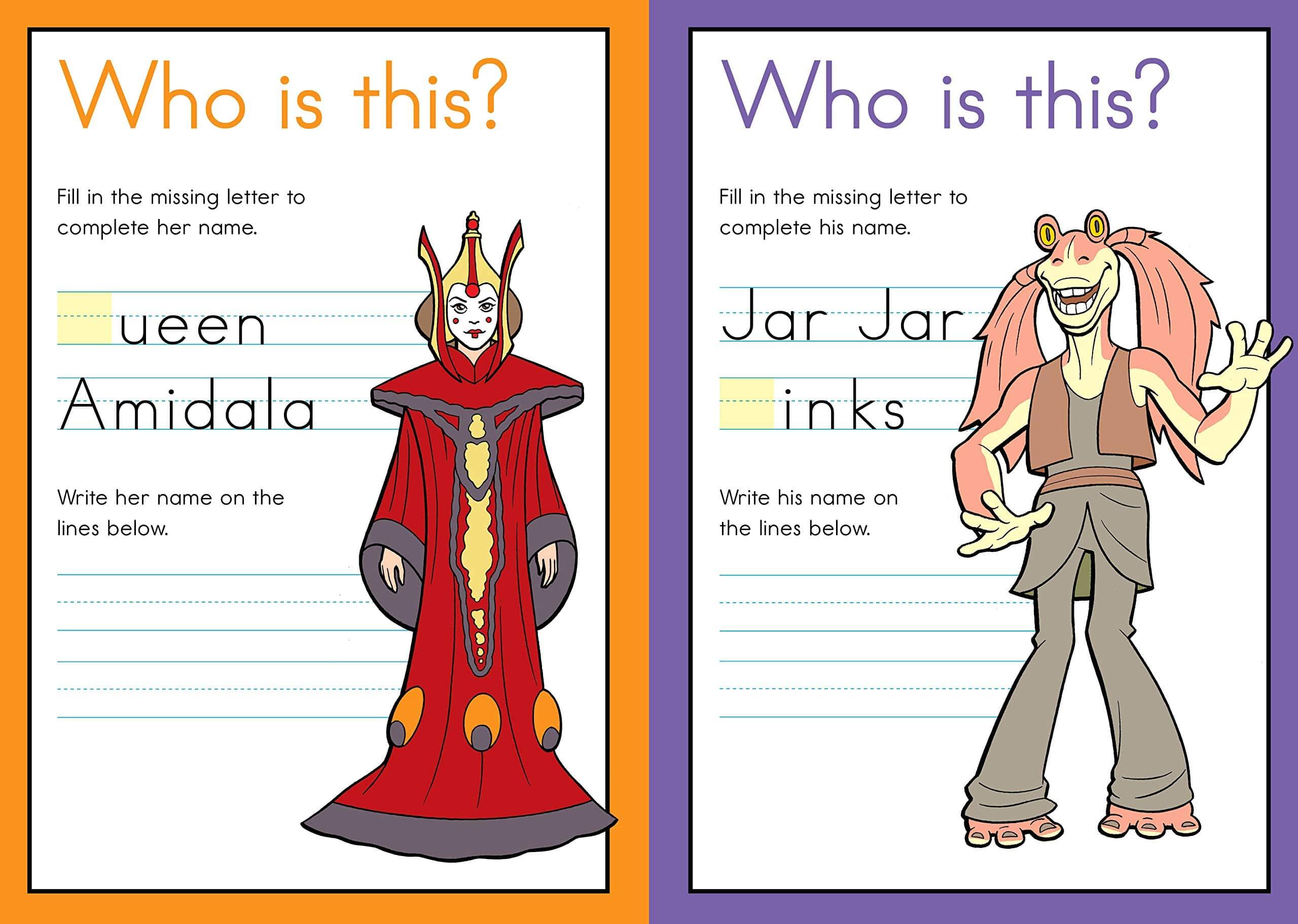 Star Wars Workbook Kindergarten Writing And Abcs