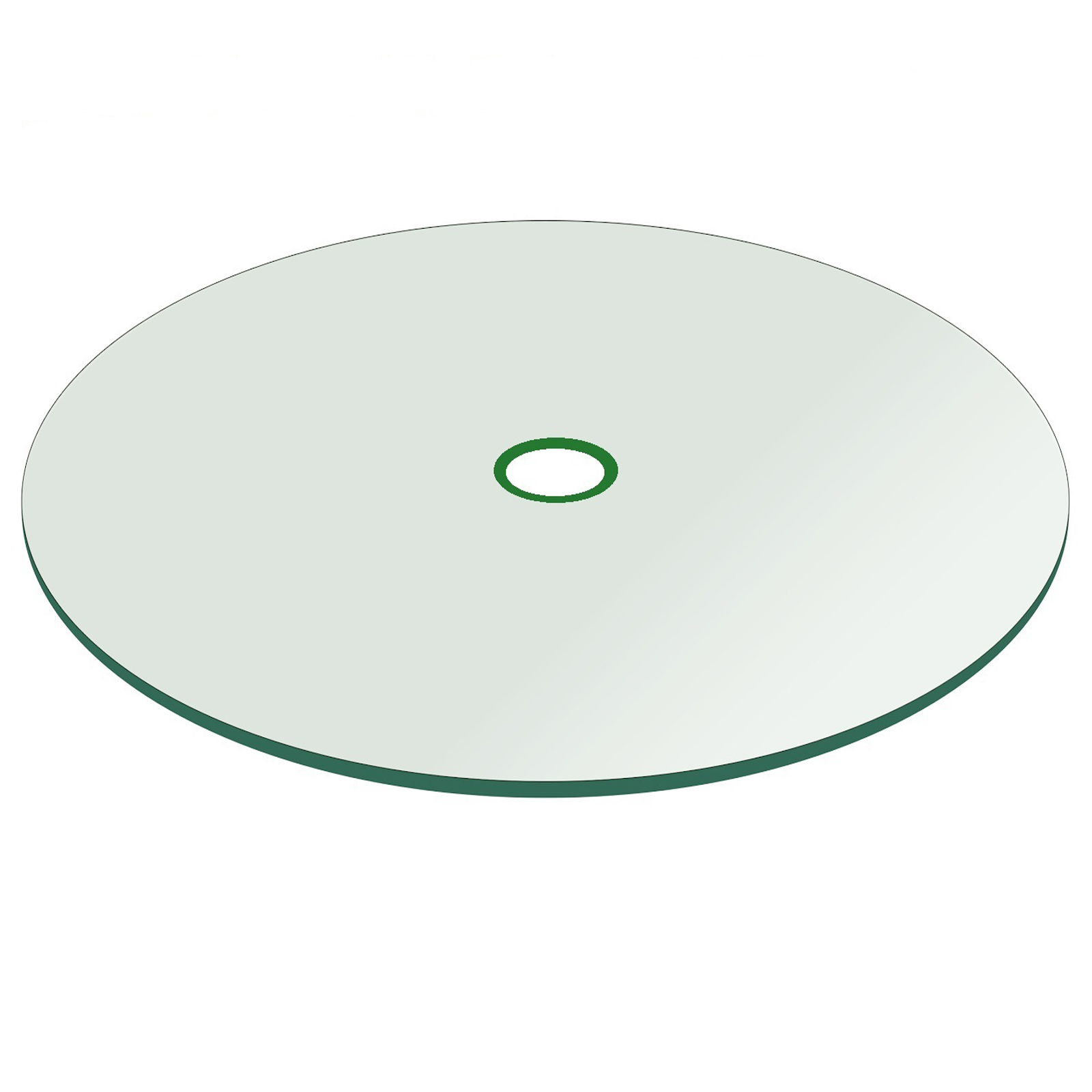 patio glass table top 48 round 1 4 thick flat tempered with 2 hole