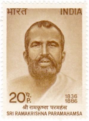 Sello con la imagen de Ramakrishna