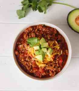 Low-Carb keto chilli