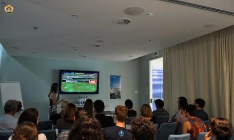 Gema Alama-Bermejo presenting her talk