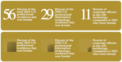 Women in the IT workforce (based on NCWIT)