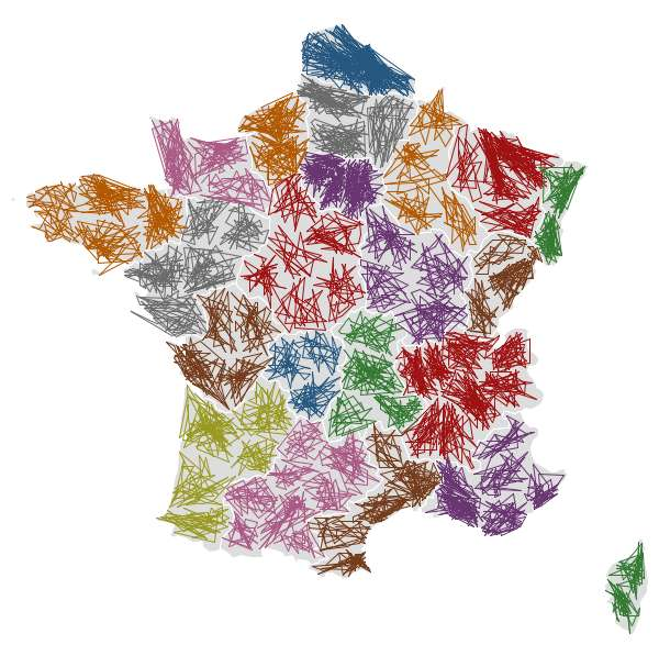 ZIPScribbleMap France