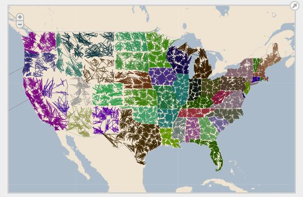 ZIPScribble Map, interactive version