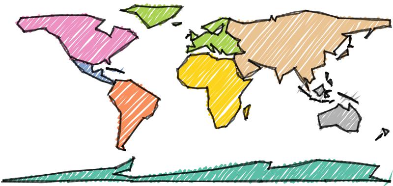 Sketchy World Map