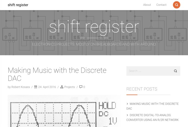 Introducing Shift Register, My New Electronics Blog