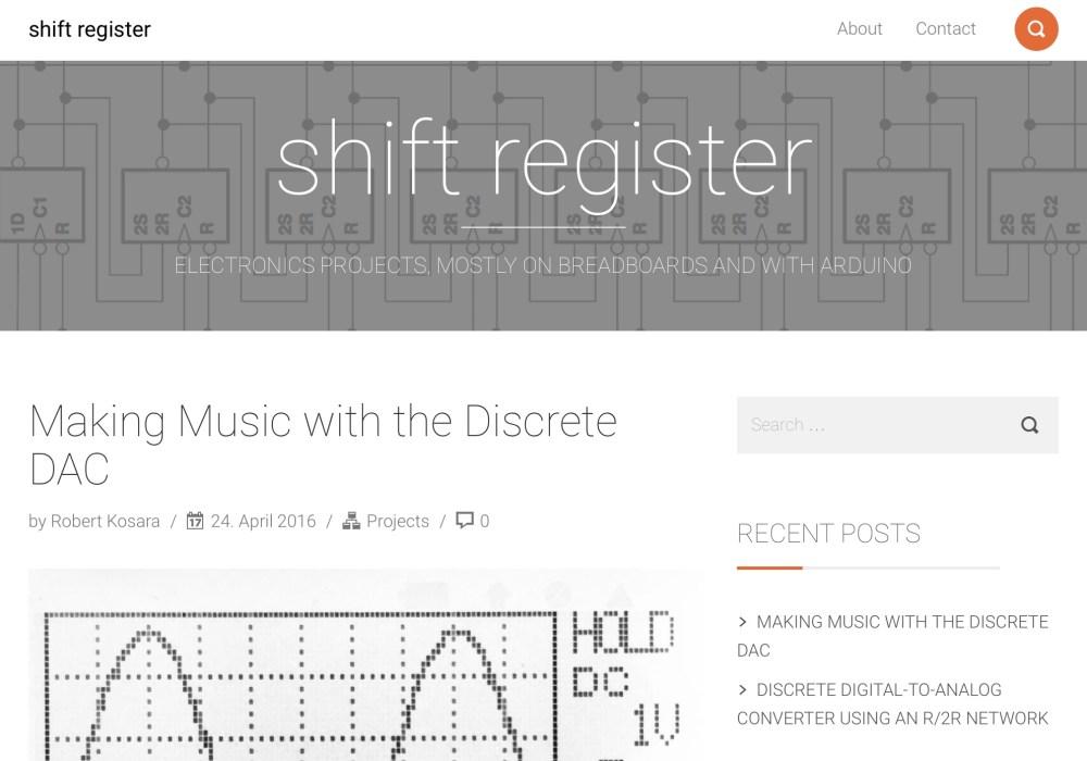 Introducing Shift Register, My New Electronics Blog