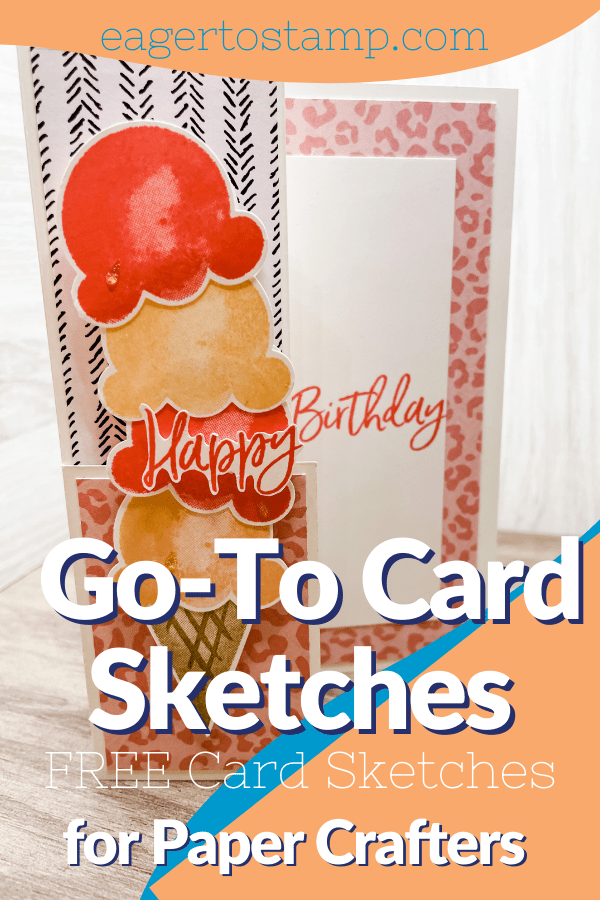The perfect go-to card sketch idea. Level 3 of 3.