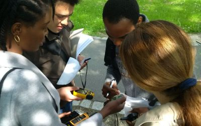 EAGLE students learn remote sensing field work