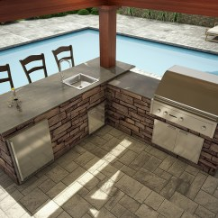 L Shaped Outdoor Kitchen Machine Signature Kitchens Eagle Stone