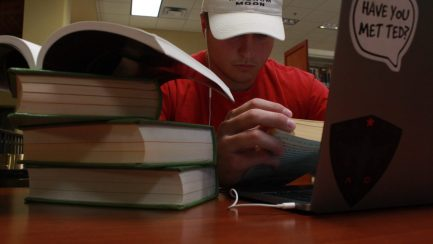 Briant Bowerman studying