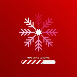 Image of Christmas snowflake uploading