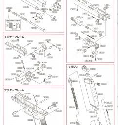 glock 18c gas blowback pistol parts diagram [ 1157 x 1600 Pixel ]