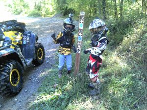 Kids riding Hatfield McCoy Trails