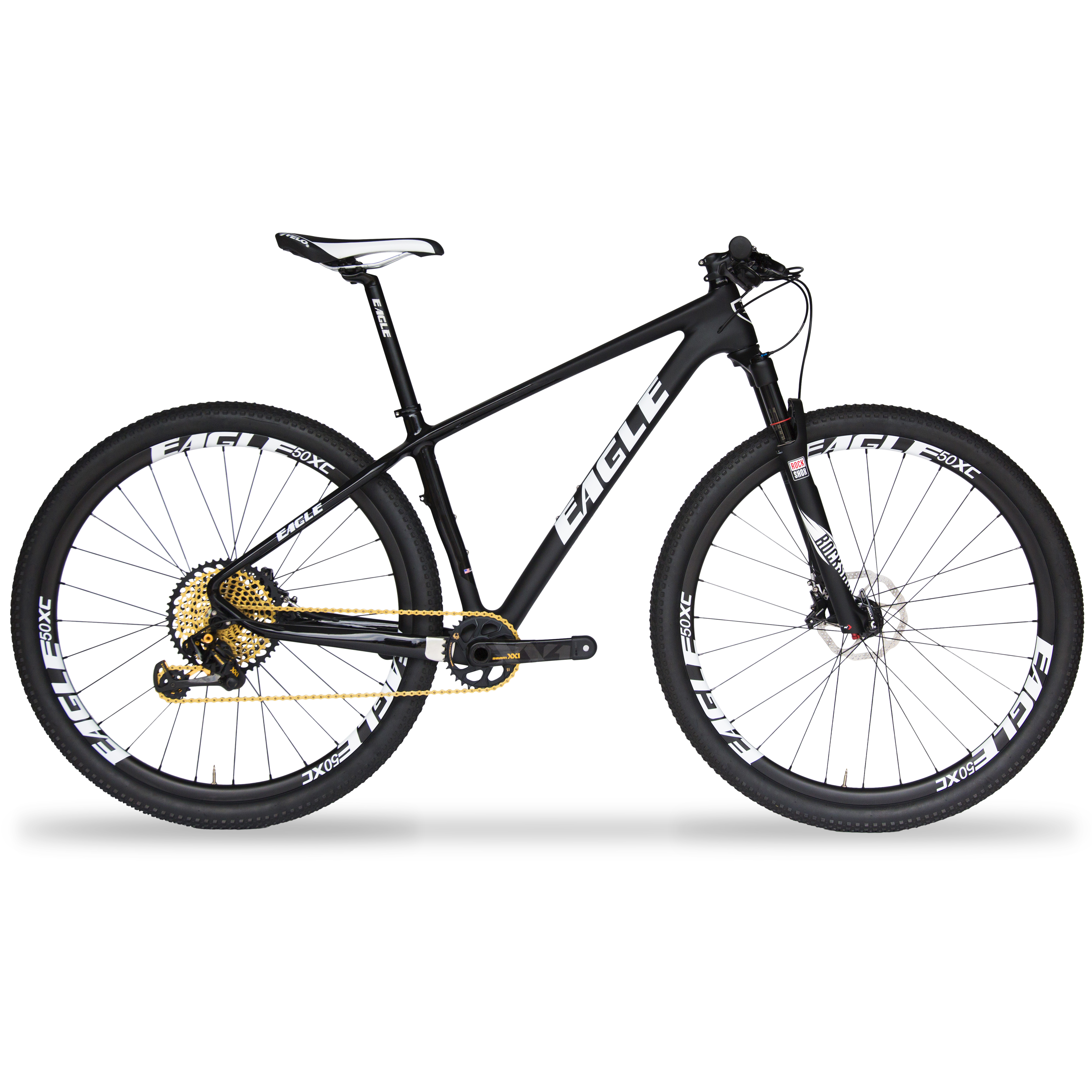 Eagle Patriot Gold Carbon Fiber Mountain Bike - SRAM XX1