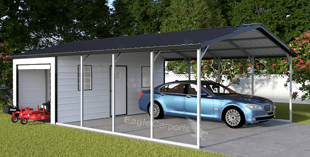 Carport And Storage Combo Packages Portable Buildings Of