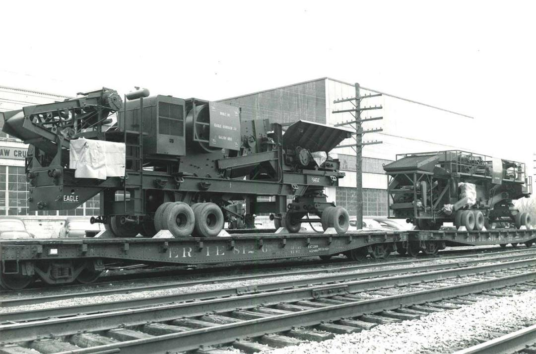 2036 jaw and double roll crushers heading off to the U.S. Army. Circa 1960.