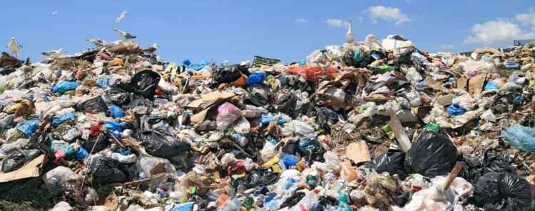 Overflowing garbage dump