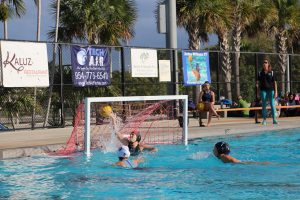 Charlene Forti (9) scores the first goal of the game.