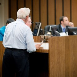 Residents at Coral Springs Commission Budget Meeting are not happy. Photo by Kevin Trejos