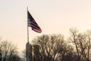 The American flag, flying over Denver, Colorado, on April 12th, 2017. Photo by Kevin Trejos.