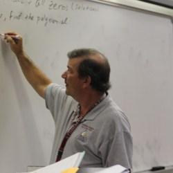 Jim Gard teaching his class
