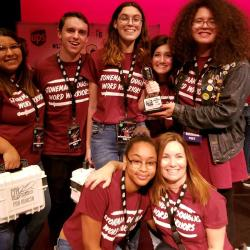 "MSD spoken work team wins in ""Louder Than A Bomb"" competition on Sunday, April 14. Photo courtesy of Stacy Lippel"
