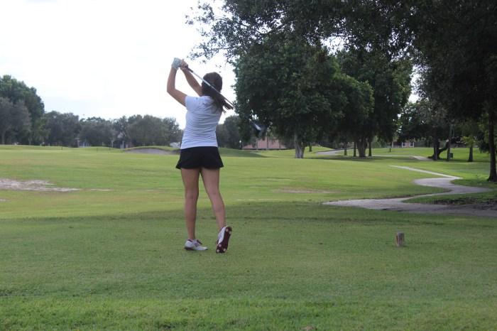 October's Athlete of the Month: Golf Player Lindsey Salomone. Photo Courtesy of Ryen Kowalczyk and Nicole Suarez.