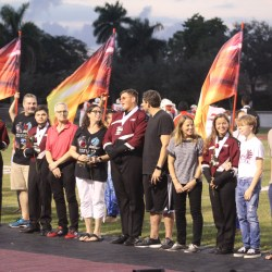 MSD celebrates football players, cheerleaders and band members at Senior Night
