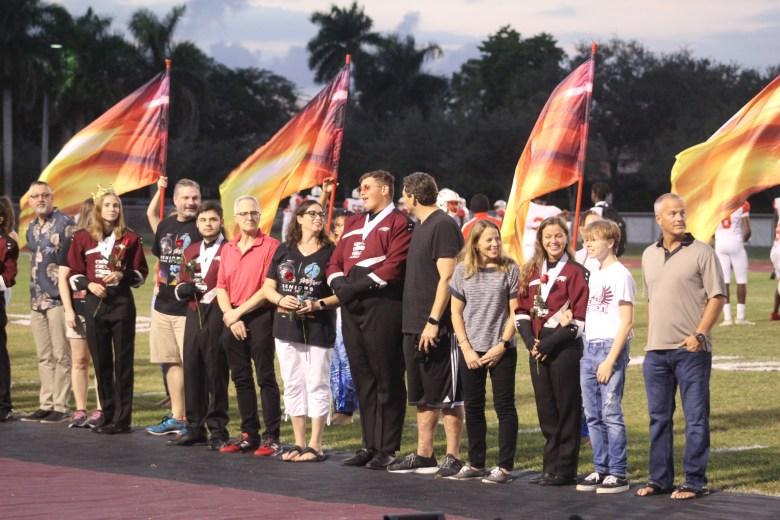MSD celebrates football players, cheerleaders and band members at Senior Night