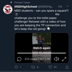 MSD administration encourages students to participate in 'Toilet Paper Challenge'