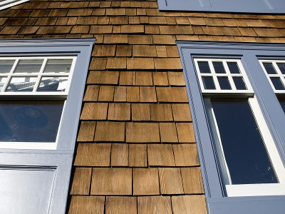 Shingle & siding close-up