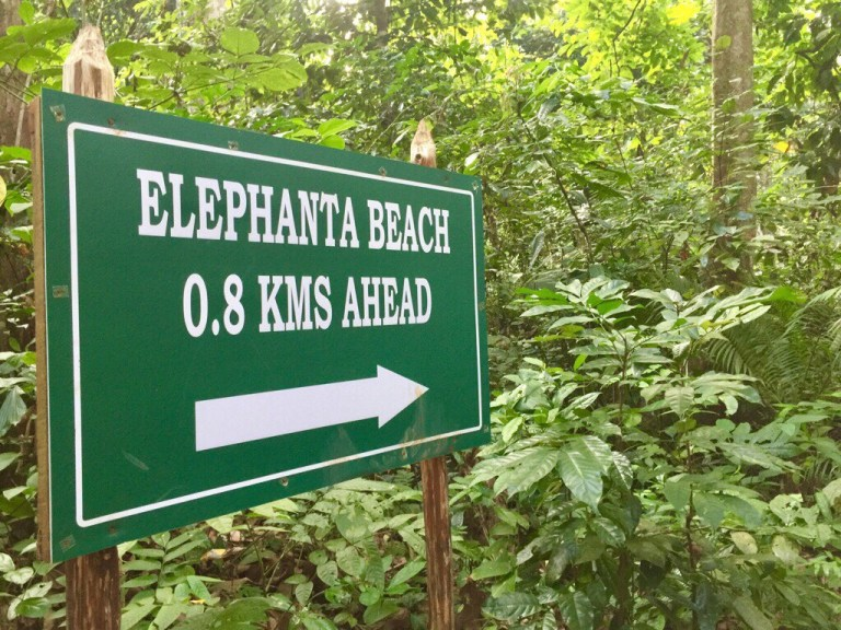 Elephant beach trek, Havelock