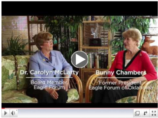 Click for Dr. Carolyn McLarty and Bunny Chambers Eagle Forum story.