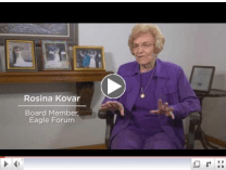 Click for Rosina Kovar's Eagle Forum story.