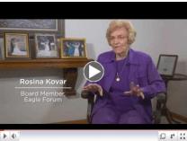 Click for Rosina Kovar's Eagle Forum story.