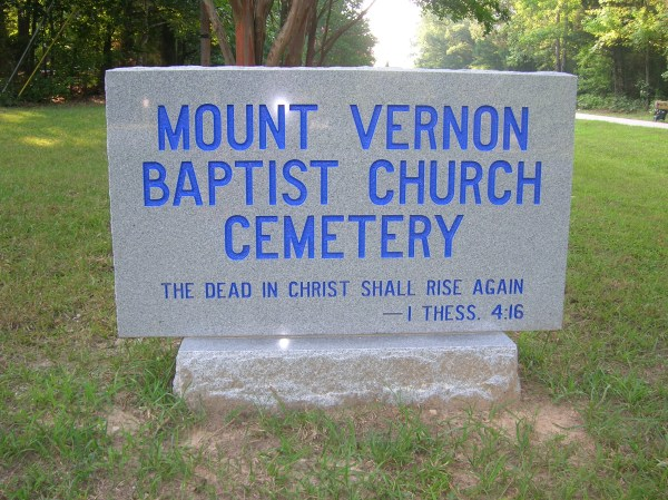 Granite Sign Funeral Home Cemetery