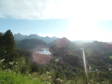 The view from Neuschwanstein on the other side