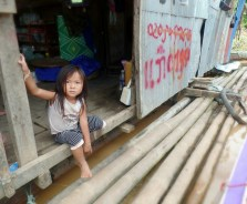 A little girl at one of our fuel stops
