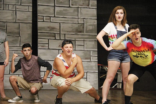 """The Baldwinsville Theater Guild will present """"Hairspray"""" next month. Performing in the production are, from left, Jared Nesci, Dominic Perrone, Emma Monterville and Lukas Figliozzi."""