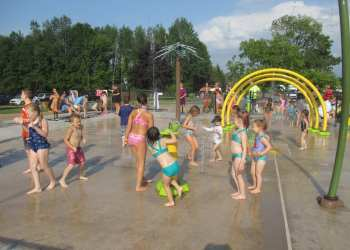 The town of Lysander held a day-long grand opening celebration for the spray park located within Lysander Park on Aug. 16, 2019.