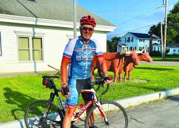 On July 4, local veteran Mike Buckley began working toward his goal of bicycling 3,745 miles to raise money for Warrior Expeditions — a nonprofit outdoor therapy program designed to help veterans transition from their wartime experiences through long distance outdoor expeditions. (Submitted)