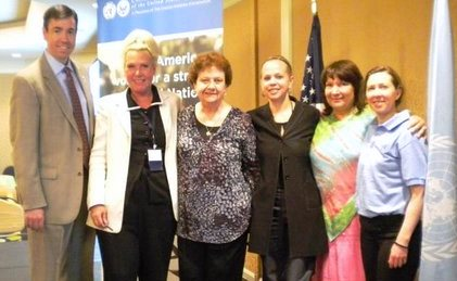 Susan Zipp, 2nd from right at 2011 UNA-USA 2011 conference