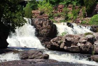 Gooseberry Falls in the Minnesota State Park by that name