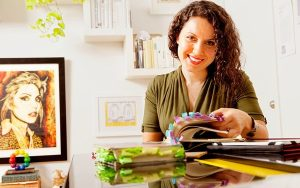 Maria Popova at work